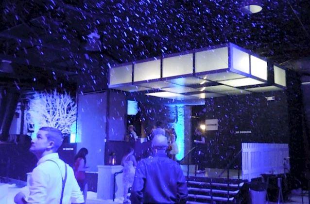 indoor snow party